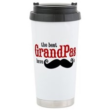 Best Grandpas Have Mustaches Travel Mug