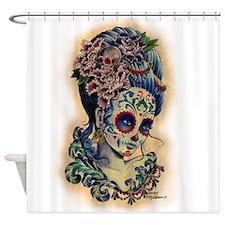 Marie de los Muertos Shower Curtain
