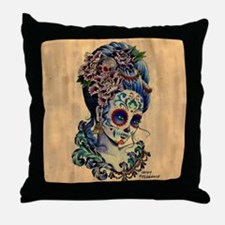 Marie de los Muertos Throw Pillow