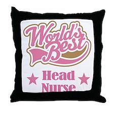Head Nurse Gift Throw Pillow