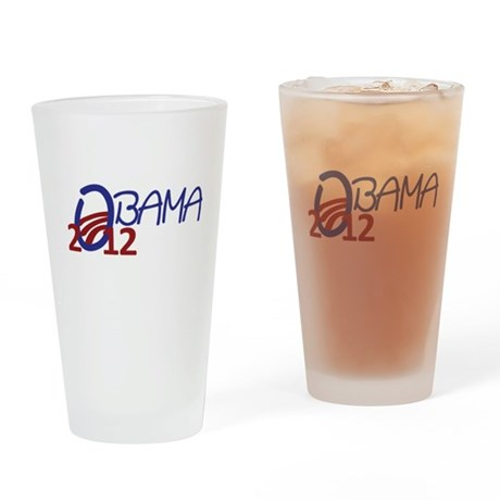 Obama 2012 Drinking Glass