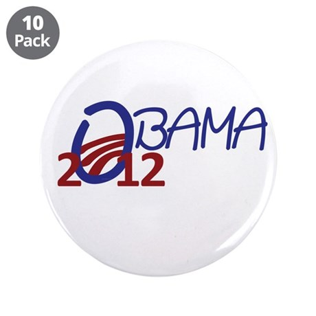 """Obama 2012 3.5"""" Button (10 pack)"""