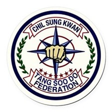 Chil Sung Kwan Federation Logo Round Car Magnet
