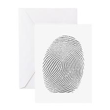 Finger print Greeting Card