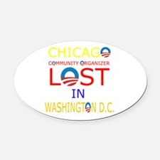 LOST CHICAGO Oval Car Magnet