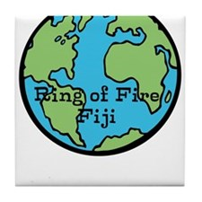 Ring of Fire Earth Tile Coaster