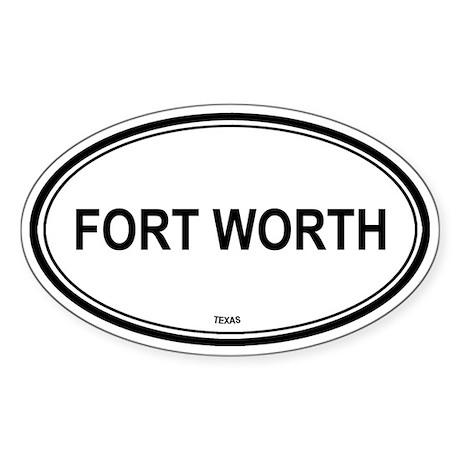 Fort Worth (Texas) Oval Sticker