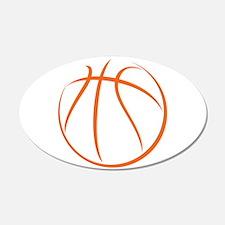 Basketball 22x14 Oval Wall Peel