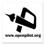 OP Logo with URL Square Car Magnet 3