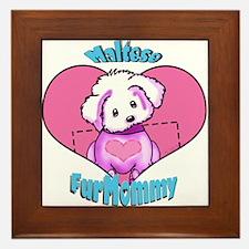 Maltese Fur Mommy Framed Tile
