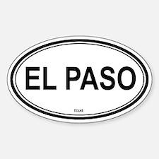 El Paso (Texas) Oval Decal