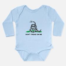 Dont Tread on Me Long Sleeve Infant Bodysuit