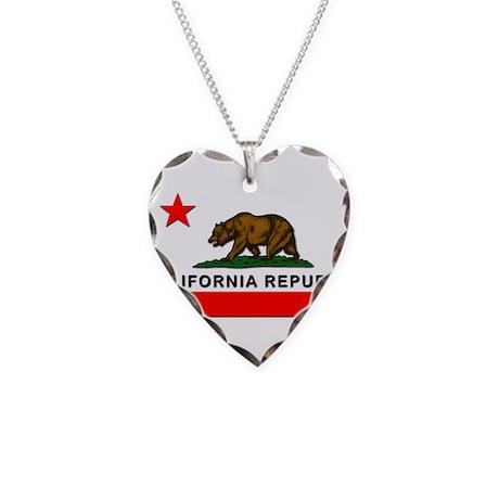 California Republic Necklace Heart Charm