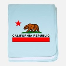 California Republic baby blanket