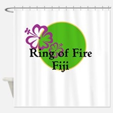 Ring of Fire Hibiscus Shower Curtain