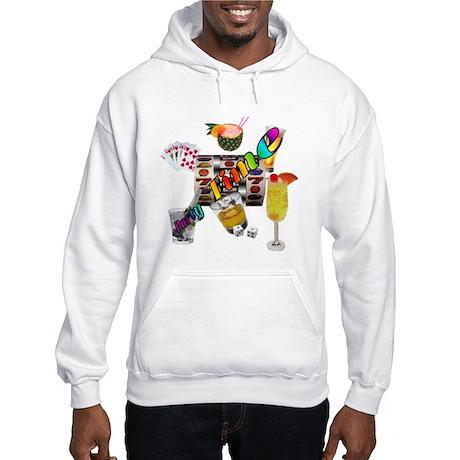 Gambler Lets Party Hooded Sweatshirt