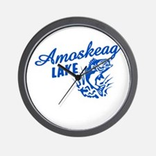 Amoskeag Lake Wall Clock