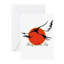 Ring of Fire Eagle Greeting Cards (Pk of 10)