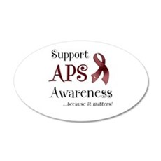 Support APS Awareness 22x14 Oval Wall Peel