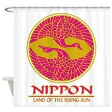 Nippon (Crane) Magenta.png Shower Curtain