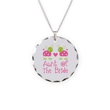 Aunt of the Bride Ladybug Necklace