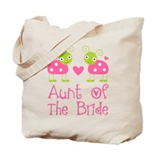 Aunt of the Bride Ladybug Tote Bag