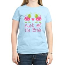 Aunt of the Bride Ladybug T-Shirt