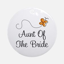 Aunt of the Bride Gift Ornament (Round)