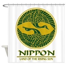 Nippon (Crane) green.png Shower Curtain
