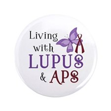 """Living with Lupus APS 3.5"""" Button (100 pack)"""