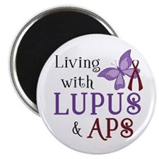 """Living with Lupus APS 2.25"""" Magnet (10 pack)"""