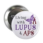 "Living with Lupus APS 2.25"" Button (10 pack)"