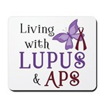 Living with Lupus APS Mousepad