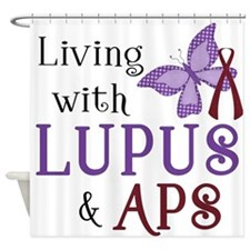 Living with Lupus APS Shower Curtain