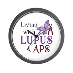 Living with Lupus APS Wall Clock
