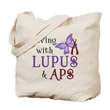 Living with Lupus APS Tote Bag