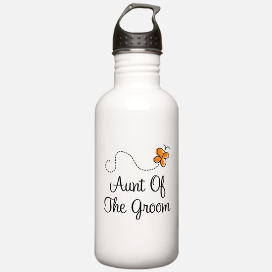 Aunt of the Groom Gift Water Bottle