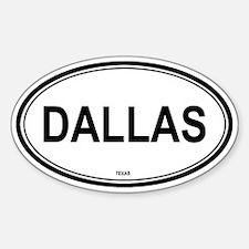 Dallas (Texas) Oval Decal
