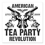 """Tea Party Revolution"" Square Car Magnet"