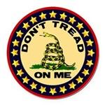 """""""Don't Tread On Me"""" Round Car Magnet"""