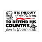 """""""Duty Of The Patriot"""" Car Magnet 20 x 12"""