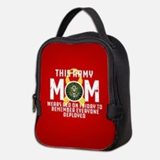 Army Mom Wears RED Neoprene Lunch Bag