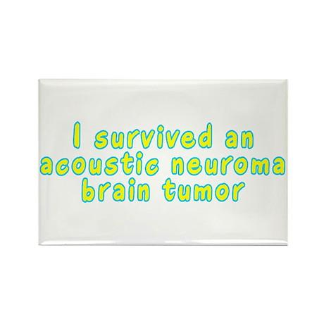 Acoustic neuroma brain tumor - Rectangle Magnet (1