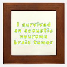 Acoustic neuroma brain tumor - Framed Tile