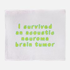 Acoustic neuroma brain tumor - Throw Blanket