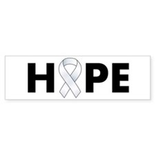 White Ribbon Hope Bumper Sticker