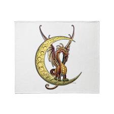 Moon Dragon Throw Blanket