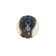 Sombrero Skull Mini Button