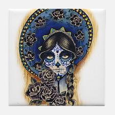 Sombrero Skull Tile Coaster