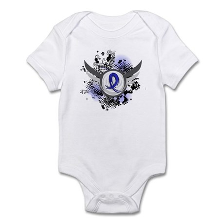 Wings and Ribbon Anal Cancer Infant Bodysuit